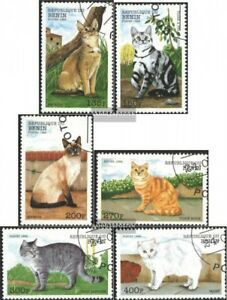 complete.issue. Cancelled 1998 Cats Benin 1056-1061 Fine Used