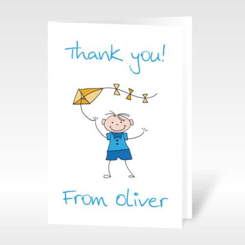 12x personnalisé A6 merci cartes enfants anniversaire bébé boys /& girls