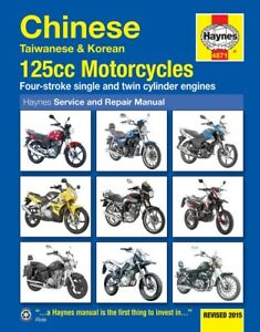 Haynes-Manual-4871-Chinese-Taiwanese-Korean-125cc-Bikes-workshop-service