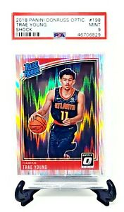 2018-Optic-Shock-Refractor-RC-Hawks-TRAE-YOUNG-Rookie-Basketball-Card-PSA-9-MINT