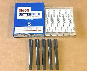 5 Union Butterfield 1//2-20NF Spiral Flute Bottoming Taps H5 High Speed Steel USA