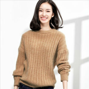 701ecddb73 Image is loading Autumn-amp-Winter-Mohair-Sweaters-Women-Cashmere-Sweater-