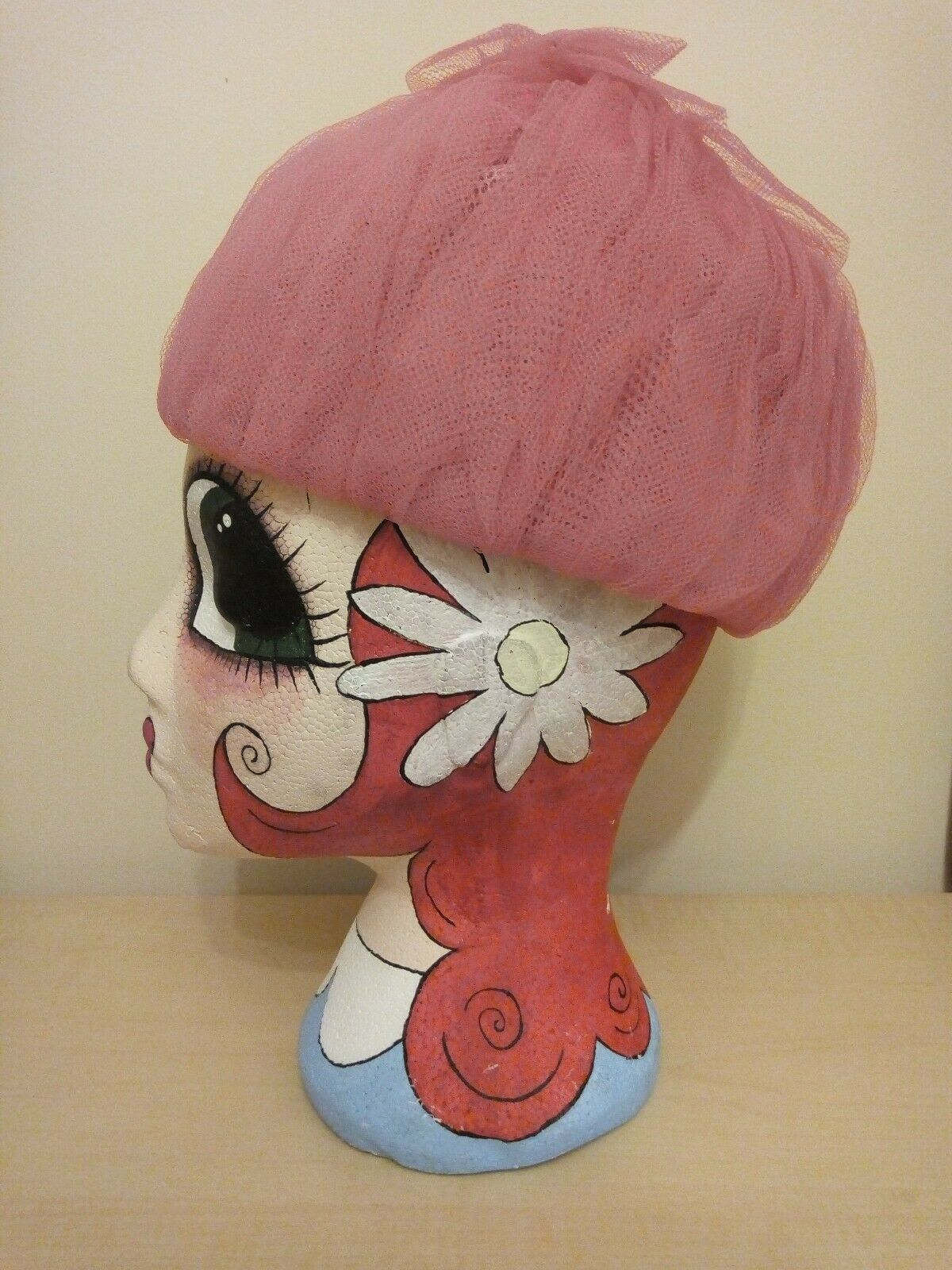 Vintage Jacoll 1960s pink hat - Ditsy Vintage size medium netted ball