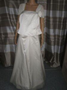 (BK28)Edles Damen Braut Standesamt Abend Kleid GR: GR: 48 ...