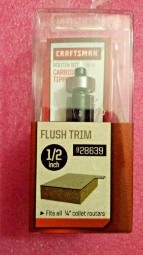 Craftsman 928639 1//2 Inch Flush Trim Router Bit Carbide Tipped