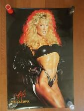 CORY EVERSON muscle female bodybuilding fitness ORIGINAL large poster 1989