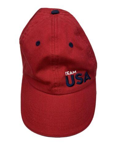 United States Olympic Team Red Adjustable Strap Ha