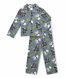 Boys Star Wars Flannel Pajama Set 2 Piece Shirt Pants Darth Vader ... 99633ce35