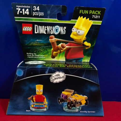 Lego Dimensions The Simpsons Bart Simpsons Fun Pack 71211 New