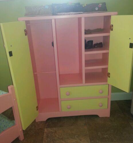 "Amish American Made 18/"" Doll Closet Girl Wardrobe Storage New SOLID WOOD"