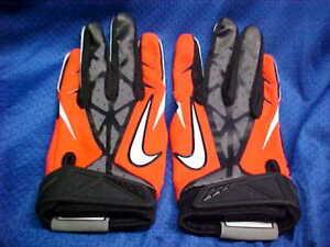 Details About Nike Vapor Jet 2 0 Virginia Cavaliers Football Gloves Orange Blk Pgf267 Size 4xl