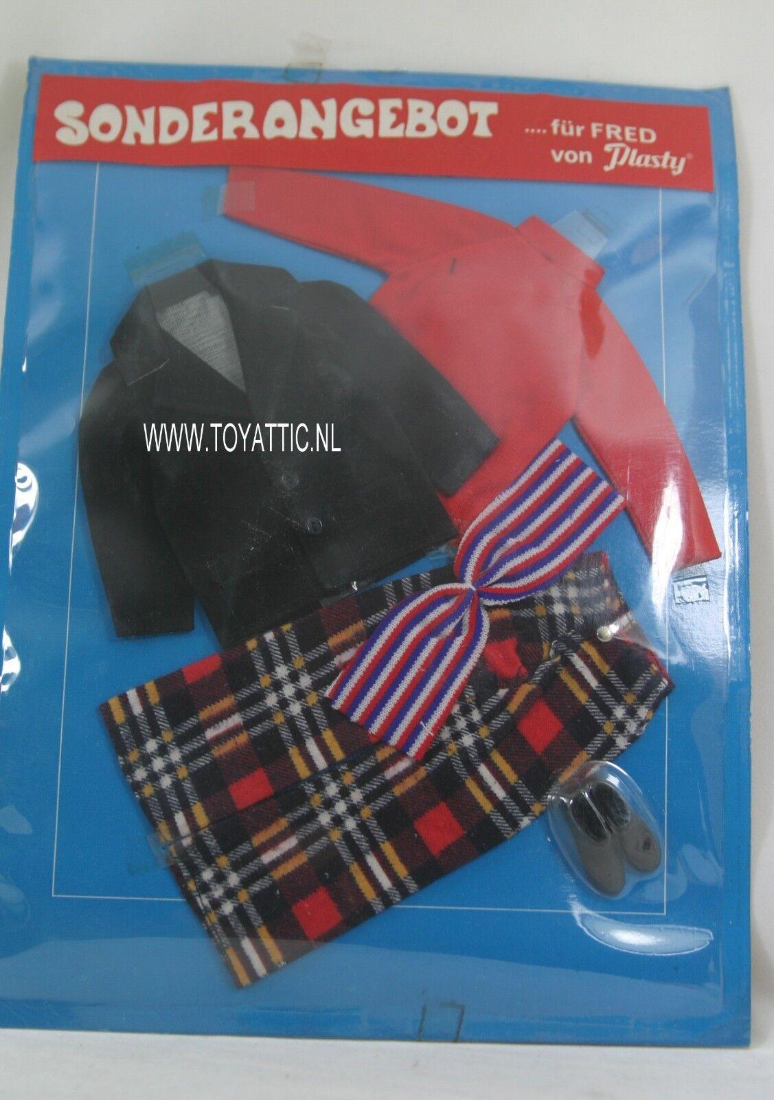 Barbie ken Größed clone fashion fur Frot von Plasty Plasty Plasty sonderangebot rot Blau NRFB b869c5