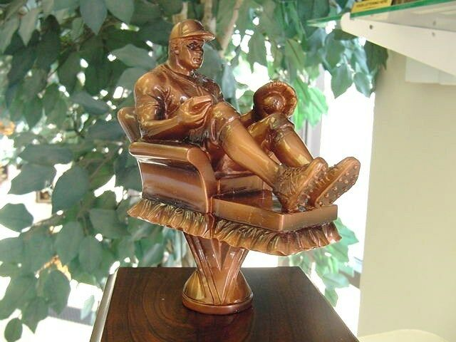 FANTASY BASEBALL PERPETUAL ARMCHAIR BASEBALL AWARD TROPHY TROPHY TROPHY 16 YEARS NEW COOL 699f71