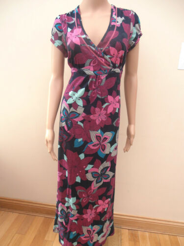 Mantaray @ Debenhams Marine maillot rose Hibicus Floral Robe Longue UK SZ 10