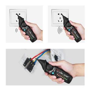 Spannungspruefer-Elektrischer-Wechselspannungsdetektor-LED-Licht-Beruehrungslos-DE