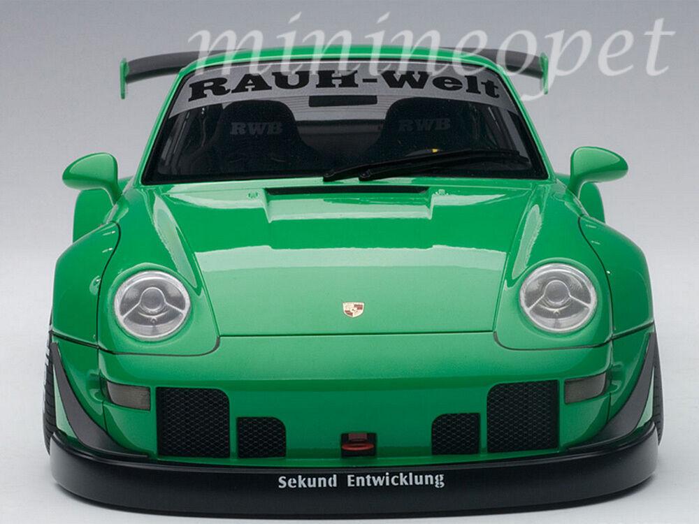 Rwb autoart 78151 porsche 993 1   18. grün mit waffe graue räder