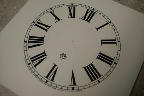 ONE ANSONIA PAPER DIAL 5 INCH TIME TRACK ROMAN NUMERAL IVORY DIAL