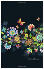 Password Organizer Website Journal Internet Online Log Book Butterfly Flowers