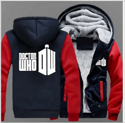 Doctor Who Unisex Winter Sweatshirts Thicken Hoodie Coat Jacket