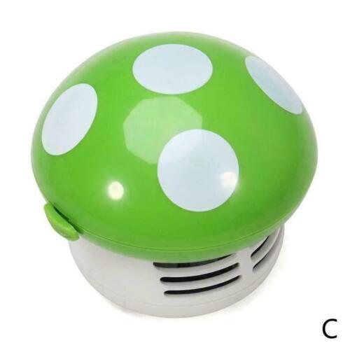 Cute Ritzy Mini Mushroom Corner Desk Table Dust Vacuum Cleaner Sweeper L4G4