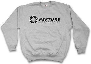 Sweatshirt Logo Pullover Aperture Portal Sweat Game Laboratories Vg Labs fEqacH