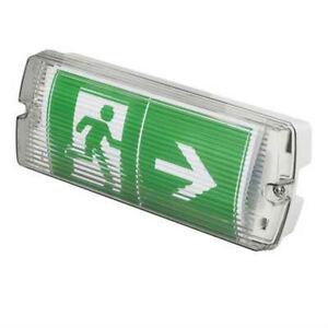 lightsafe erled3 led emergency bulkhead light fitting 3 8 watt ip65