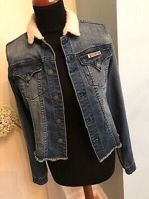 2019 Nuovo Stile Designer Giacca Di Jeans Hudson Ragazze Xl Donna S Pit2pit 18.5 Condizioni Eccellenti-mostra Il Titolo Originale