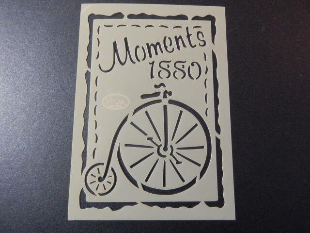 "Viva Decor: Schablone ""Vintage / Steampunk - Moments 1880""  10,4 x 14,7 cm"