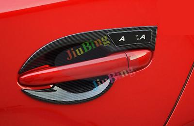 4Pcs For MAZDA 3 Axela 2017 2018 Carbon Fiber outside Door handle Cover Trim c