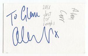 Alan Carr Signed 3x5 Index Card Autographed Signature Comedian Comic Actor Host