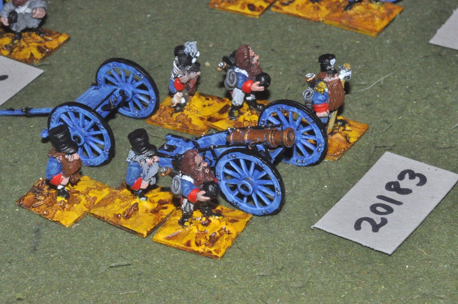 28mm flintloque fantasy dwarf Kruatian Artillery (as photo){16}(20183)