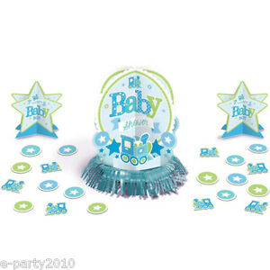 Baby shower welcome little one boy table decorating kit for Baby welcome home decoration