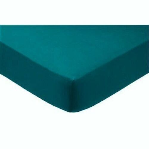 Poly-Cotton Soft /& Comfortable Plain Fitted Sheets in Trendy Colors Novali