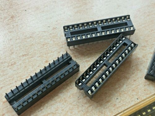 17 PIECES per order       Z3182 DIL   28 Pin   IC SOCKET    2.54mm     1 TUBE