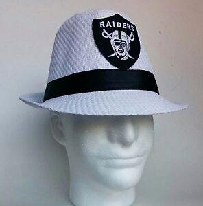 e667ce443 NEW White Fedora Hat Oakland Raiders Las Vegas Football Season SALE ...