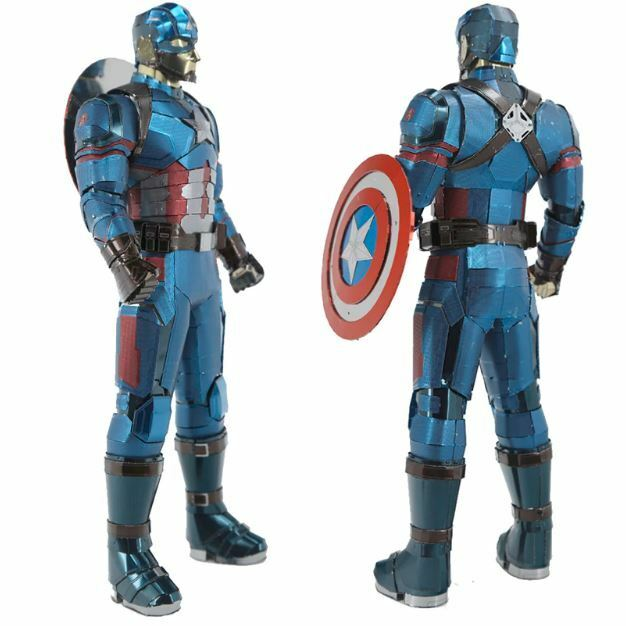 3D Metal Puzzle Customized Big Size Captain America Assemble Jigsaw Building Toy