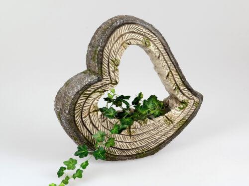 Pflanzgefäß WOOD Herz braun mit Holzstruktur Magnesia Formano WA Garten
