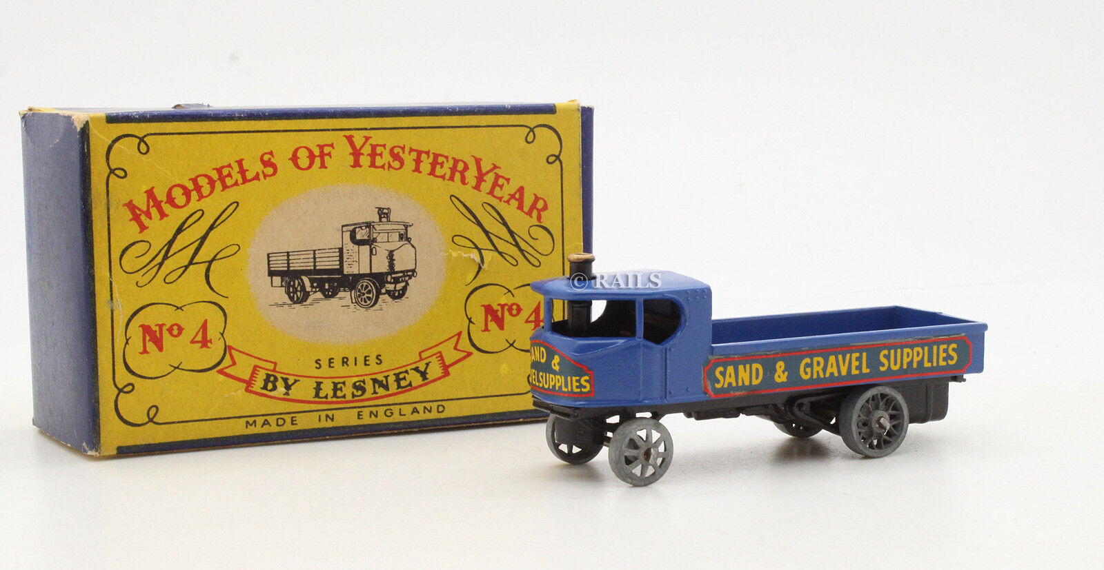 MODELS OF YESTERYEAR NO.4 'SAND & GRAVEL SUPPLIED' SENTINEL STEAM WAGON RARE