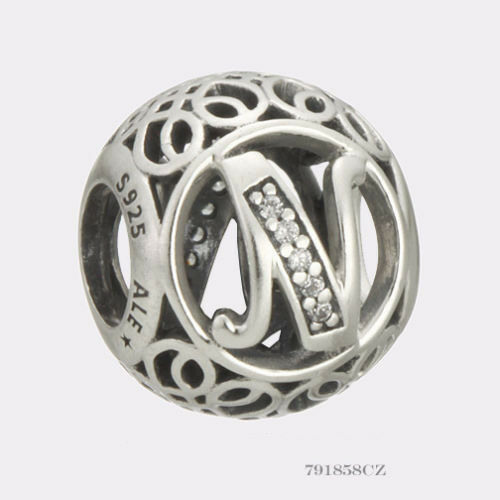 New Authentic Pandora Charm Letter N  791858cz P