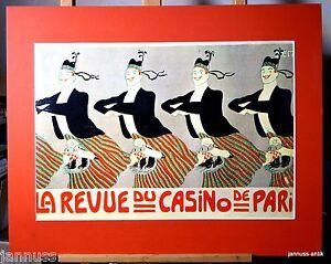 Publicite-Pression-Derriere-Passepartout-80er-La-Revue-De-Casino-Paris-50x40-CM