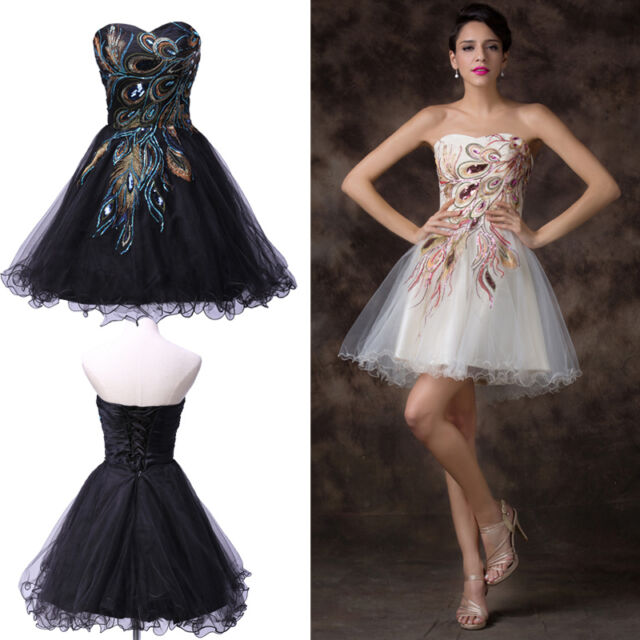 2014 XMAS SALE❤Vintage Peacock Short Prom Homecoming Evening Cocktail Club Dress