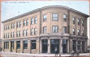 1910-Ambridge-PA-Postcard-Hotel-Ambridge-Pennsylvania-Penn