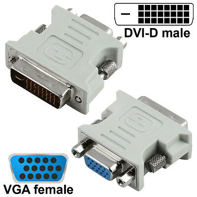 Dvi D To Vga Adapter Vga Female To Dvi 24 1 Pin Male Cable Converter Adaptor 8800216251201 Ebay
