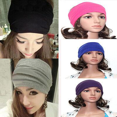 Women Lady Wide Yoga 5inch Headband Stretch Hairband Elastic Hair Band Turba