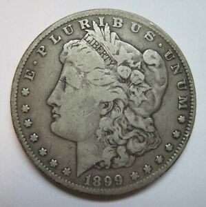 1899-Morgan-Silver-Dollar-VG-Semi-Key-coin