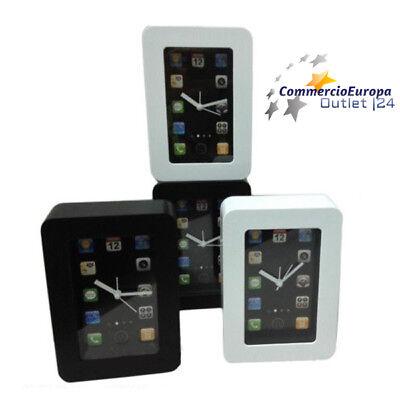 Orologio a Forma Iphone Ipad da parete o da tavolo table clock bianco nero stock