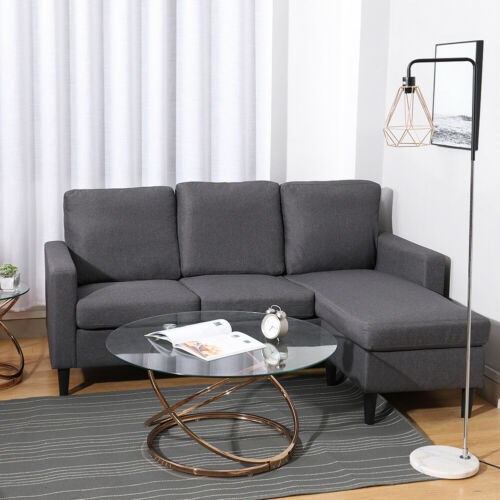 Sectional Grey 3 Seater Left Right Hand Corner L Shaped Sofas Couch Settee Chair