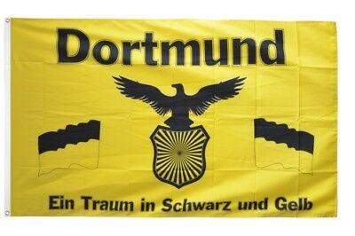 Fahne Fanflagge I Love Dortmund Flagge Fußball Hissflagge 90x150cm