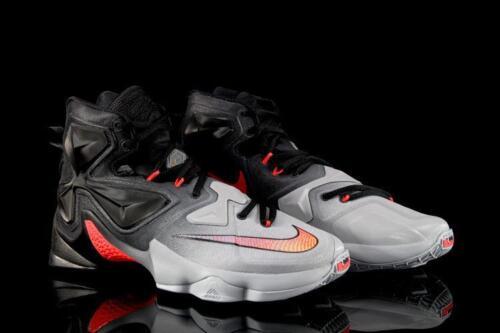 cremisi nero Scarpe basket lupo Nike grigio misura Xiii Uk10 brillante da Lebron fv6qf