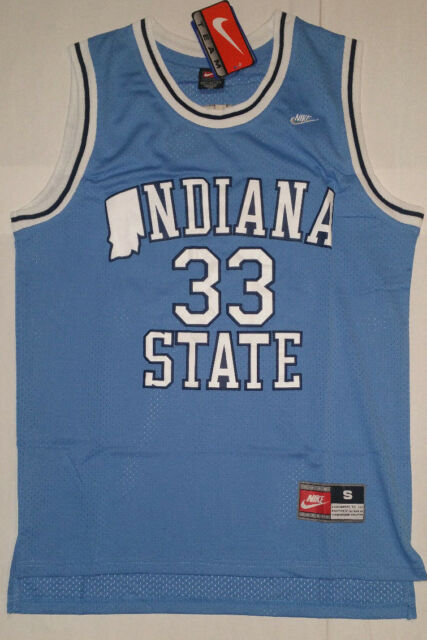promo code 2455f c4834 Larry Bird Indiana State Men's Jersey # 33 Blue New with tags NWT